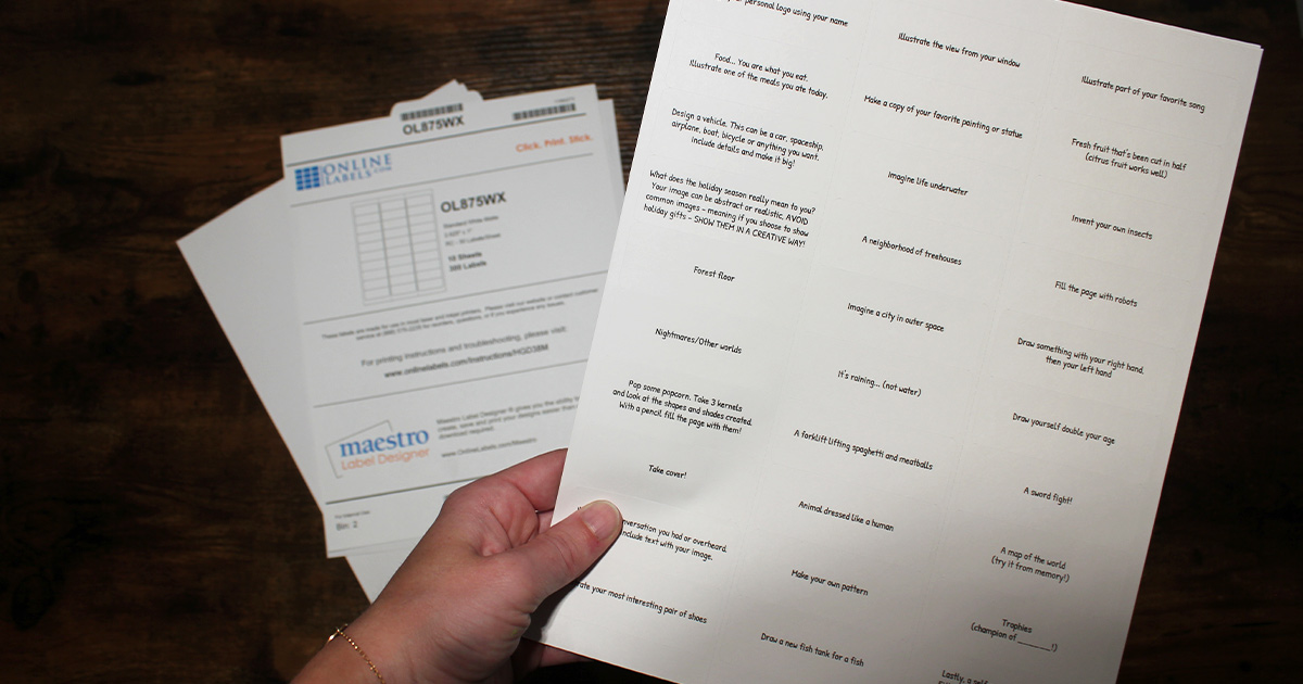 Download free printable label templates and use them with your home or office printer