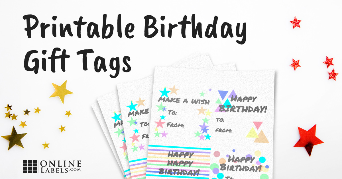 DIY Printable Birthday Gift Tag