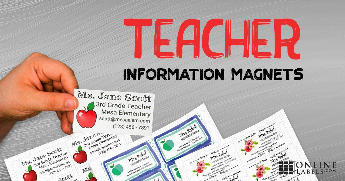 Printable magnets for teachers to hand out with their contact information for the school year