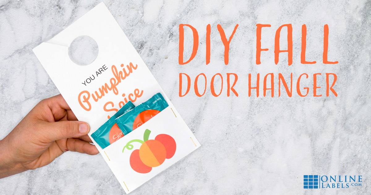 Create a printable Fall door hanger.