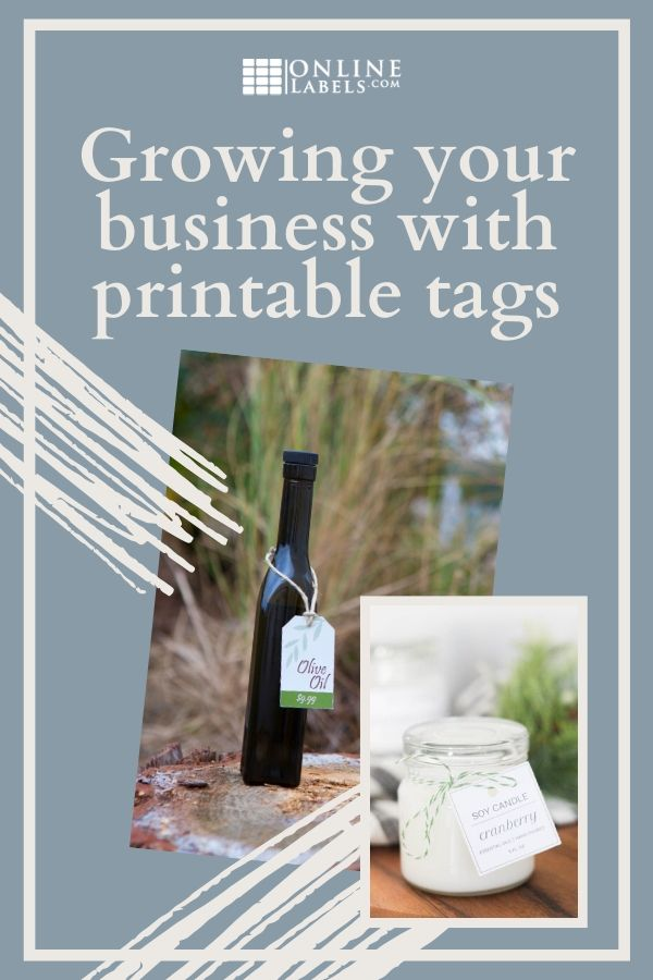 How to use printable cardstock tags for business