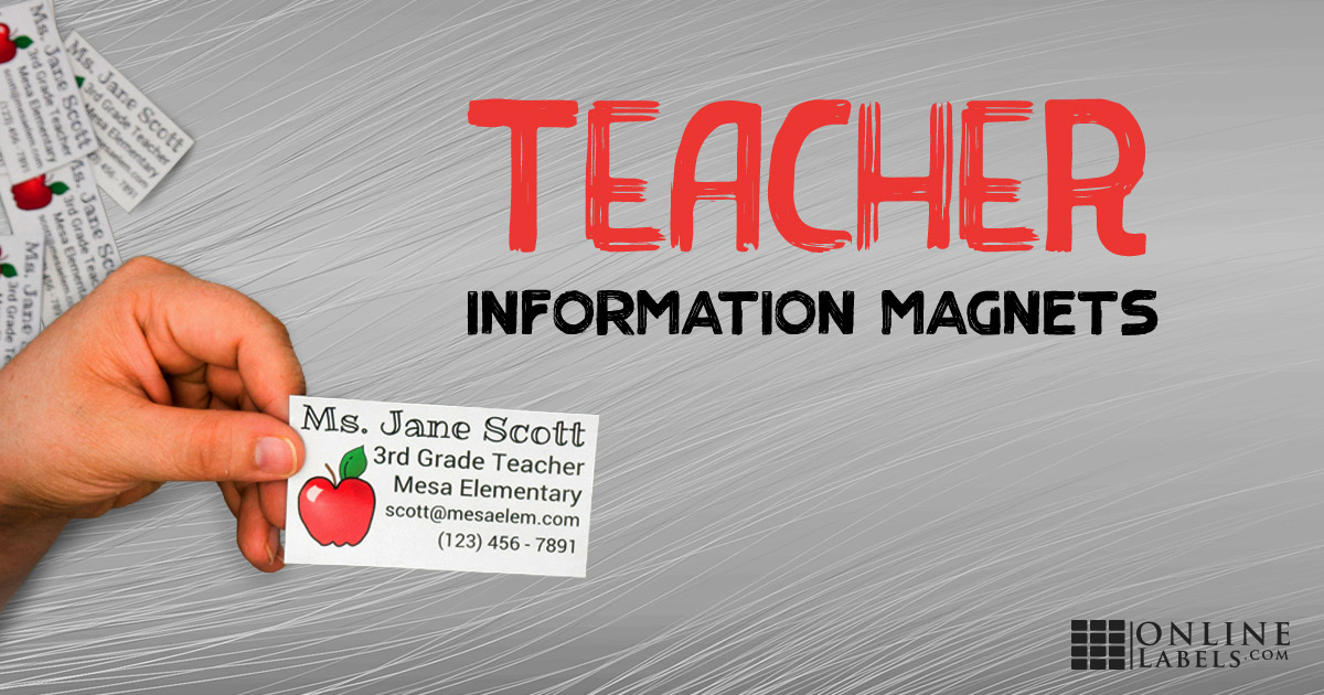 Printable Teacher Contact Information Magnets
