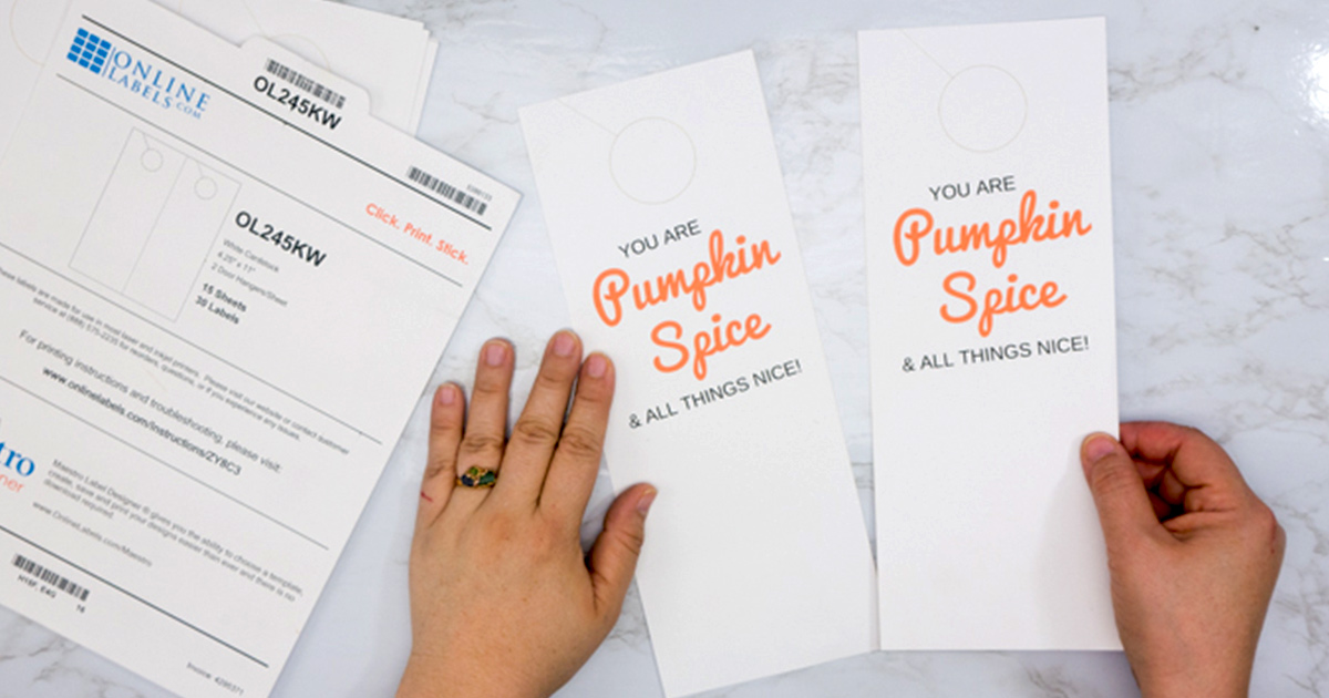 Cardstock tags come perforated for easy tearing.