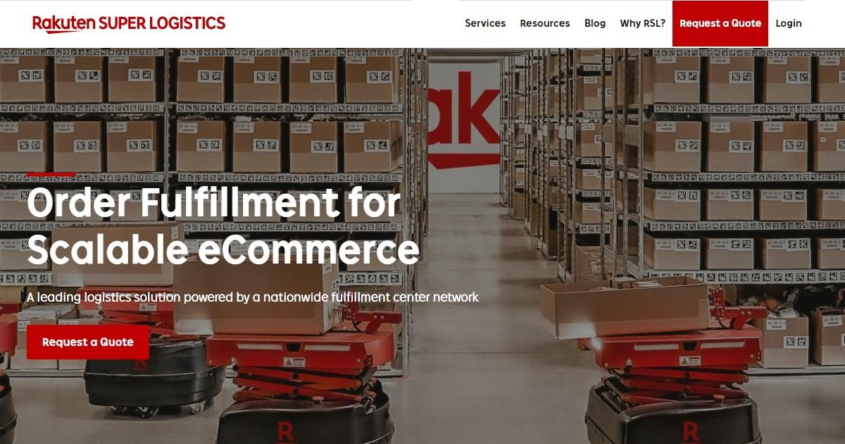 Rakuten Super Logistics homepage