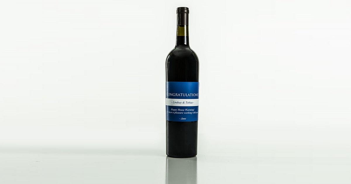 wine real estate label