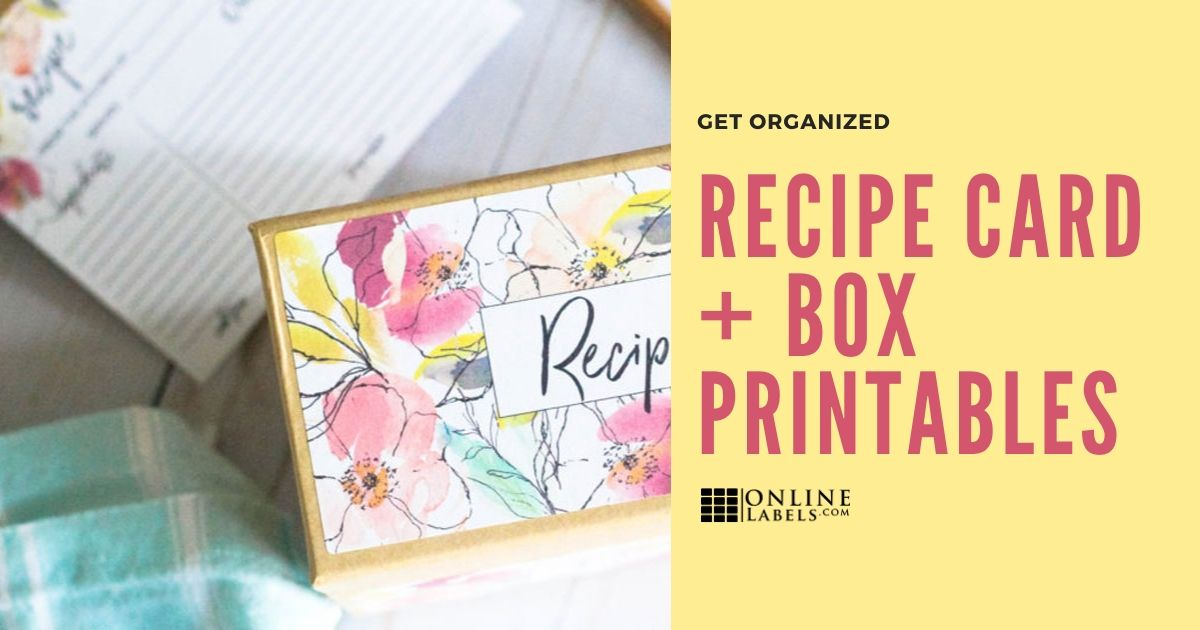 Get Organized With Printable Floral Recipe Cards