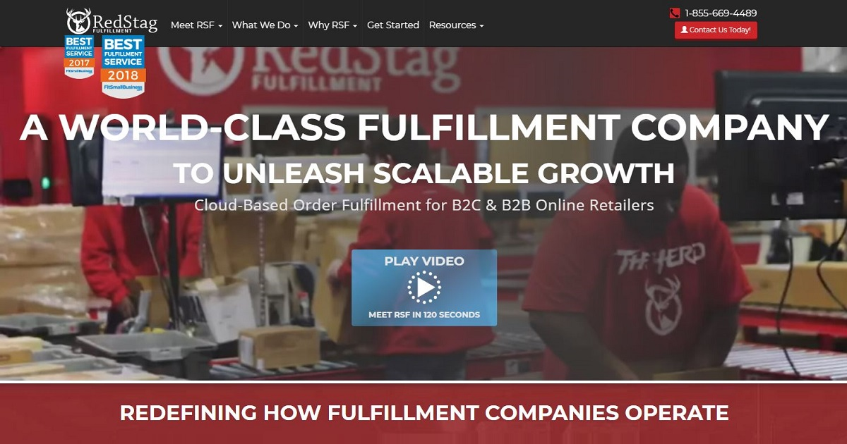 Red Stag Fulfillment homepage