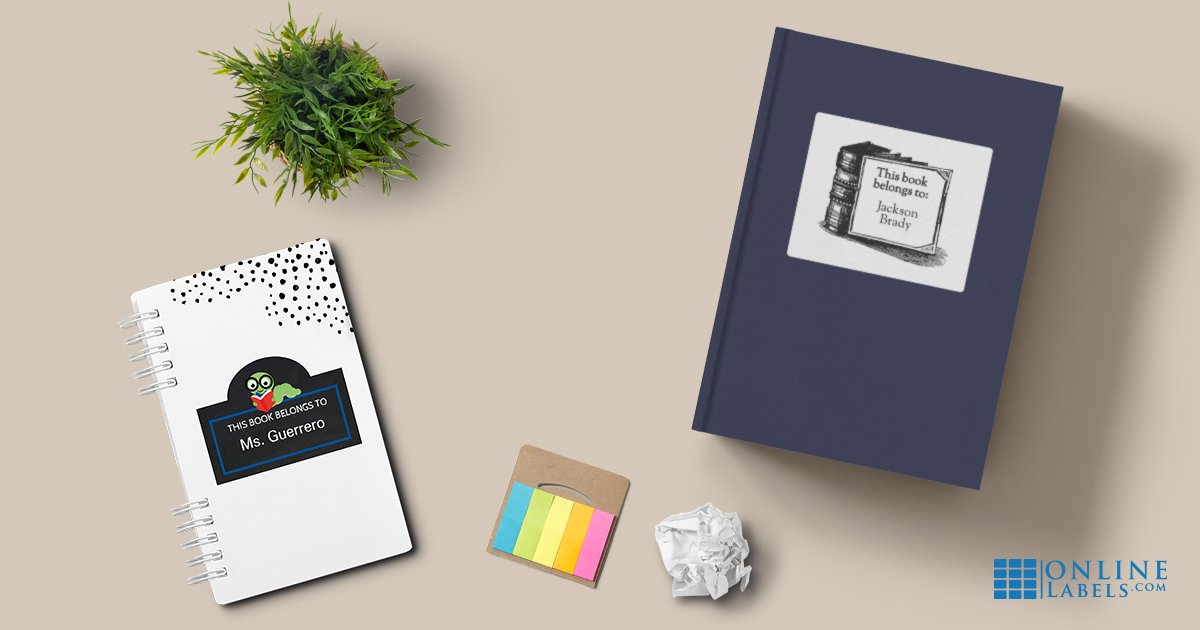 Label designs you can download for free and attach to personal reading books