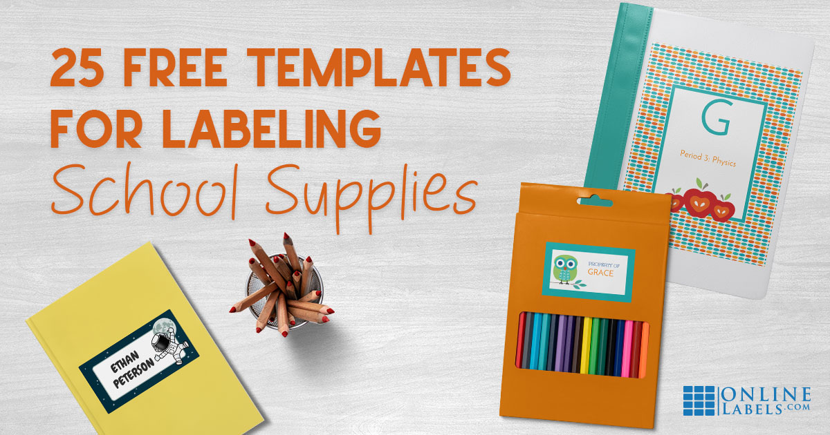 25 Free Label Templates For Back To School  📚 ✏ ️ 🎒