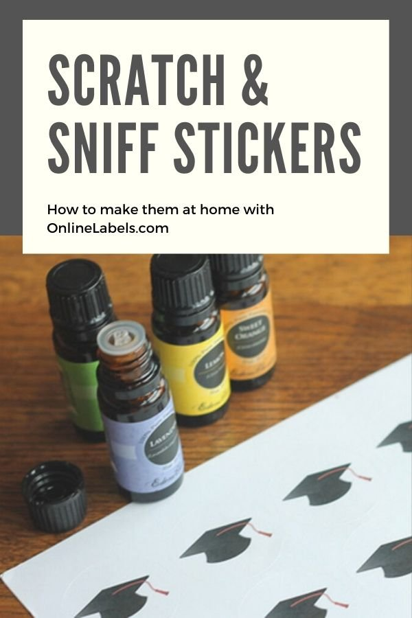 Create your own scratch and sniff labels