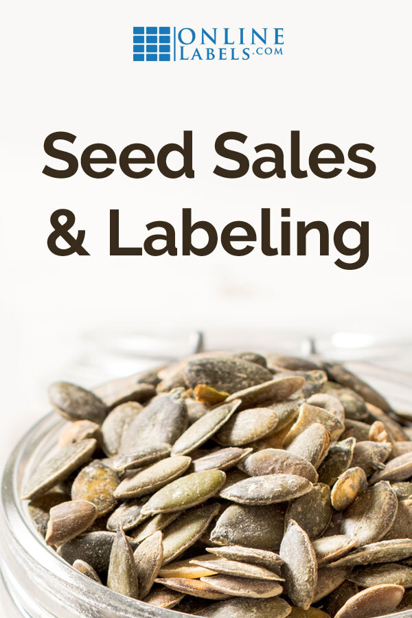 How to label seeds for sale