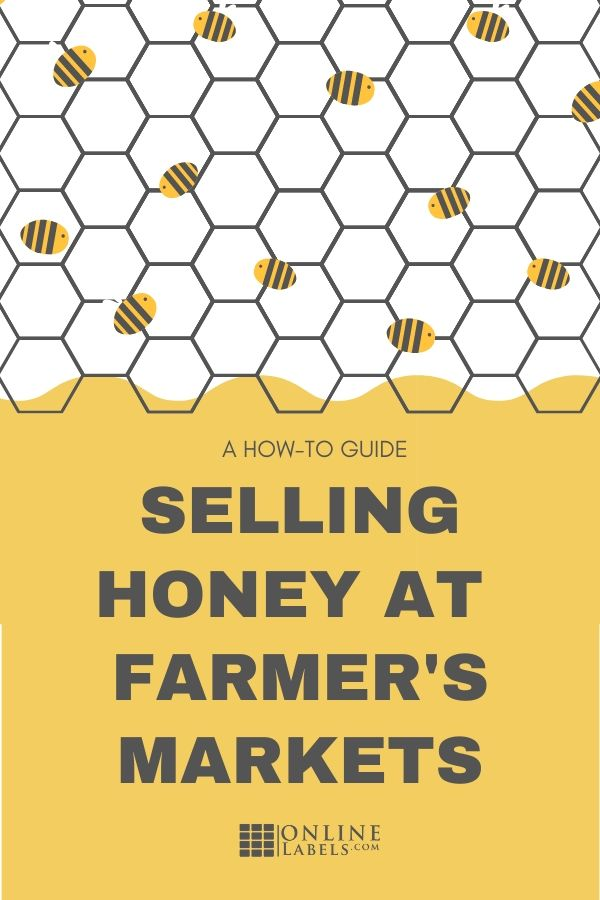 How to sell your local honey at a farmer's market using label templates