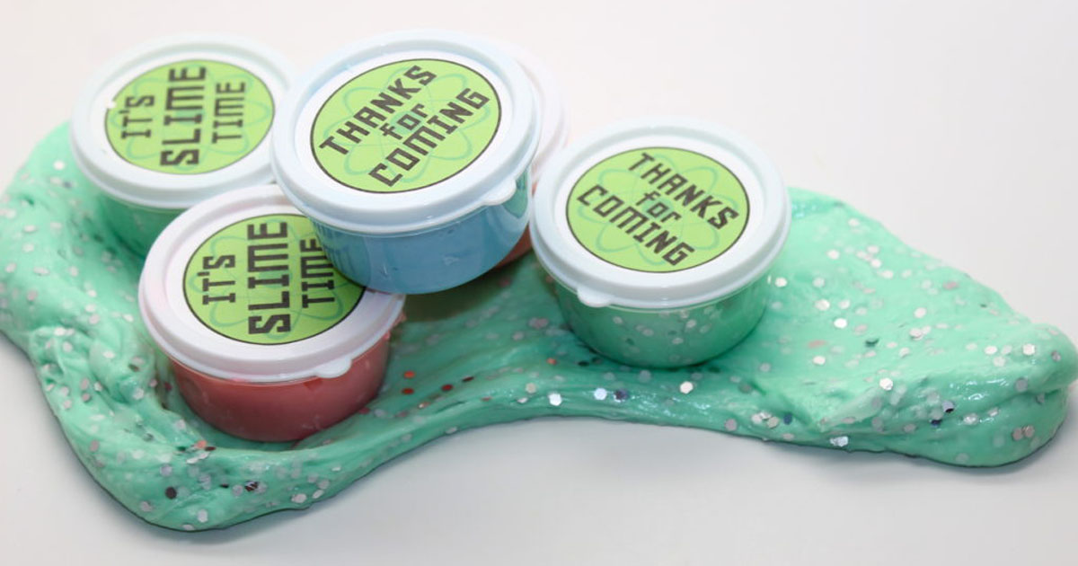 Slime party favors