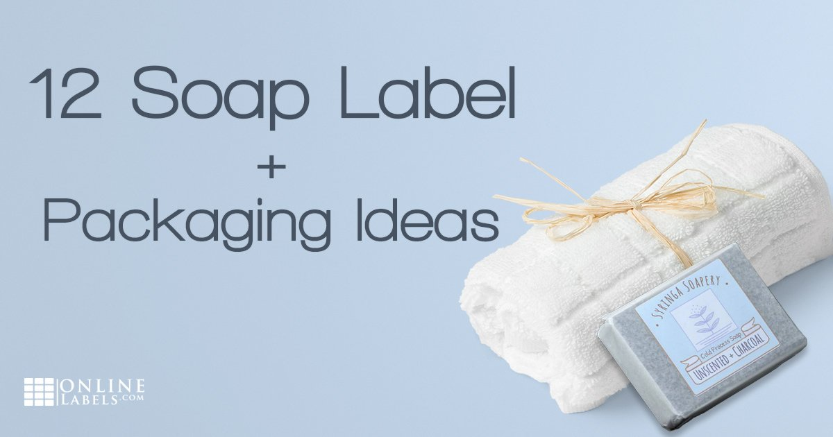 Examples of soap labels and packaging