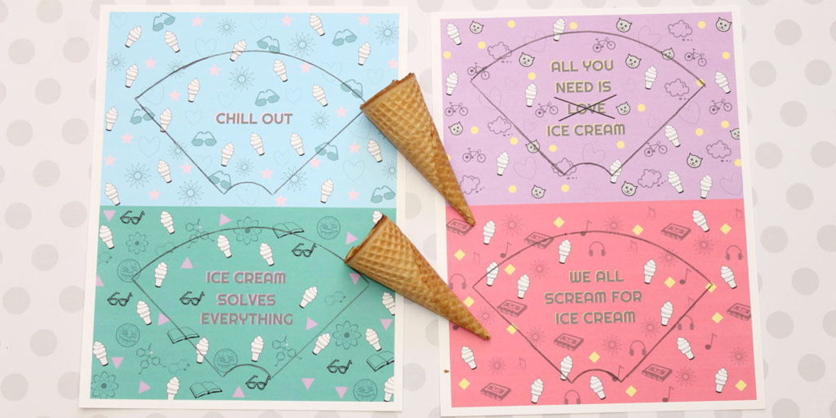 How to make custom ice cream cone wrappers