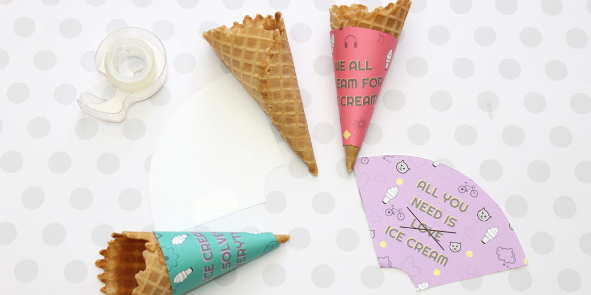 Summer craft for kids: custom ice cream cone wrappers