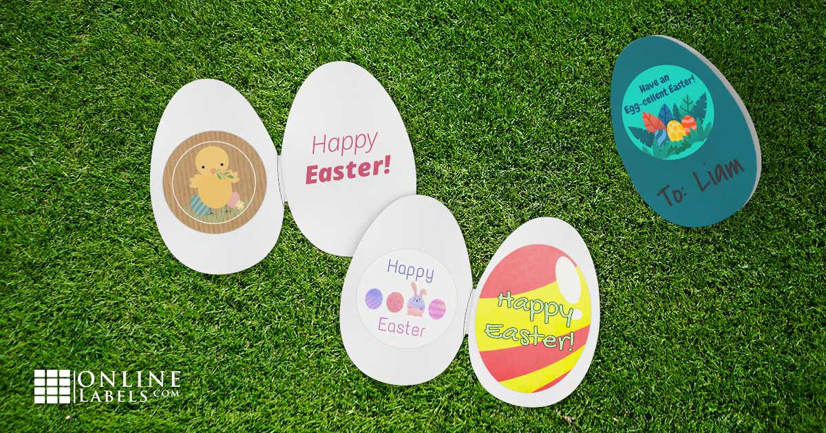 Free printable sticker/label templates for celebrating Easter