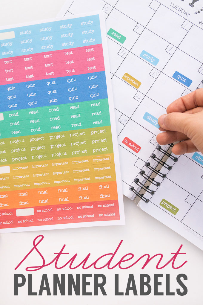 How to make planner stickers for your student planner, free printable