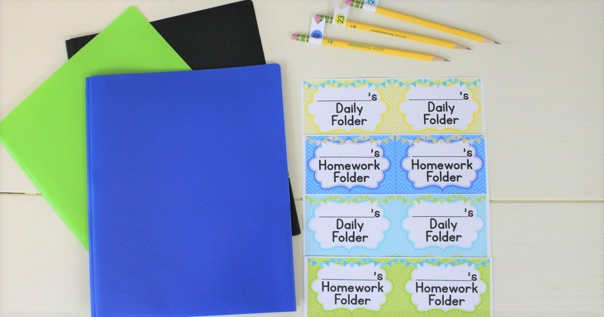 Ways to use labels to become a more organized teacher and/or parent