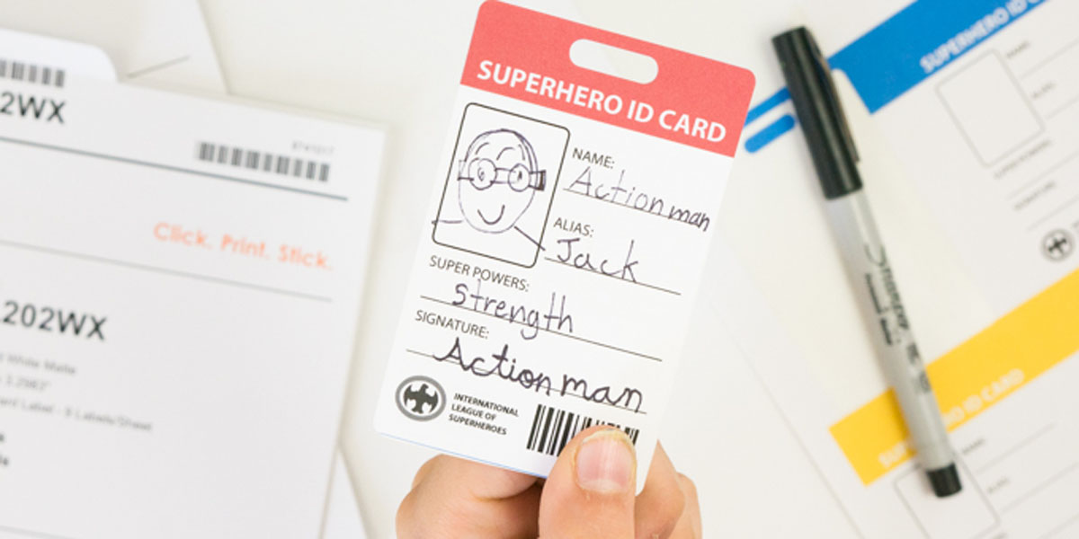 Kids summer project: become a superhero for a day