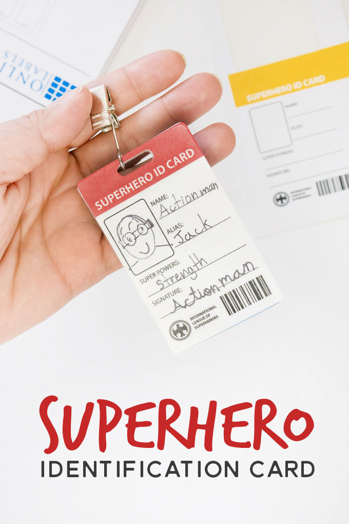 Inspire your child to be a superhero for a day with these fun printable ID card templates
