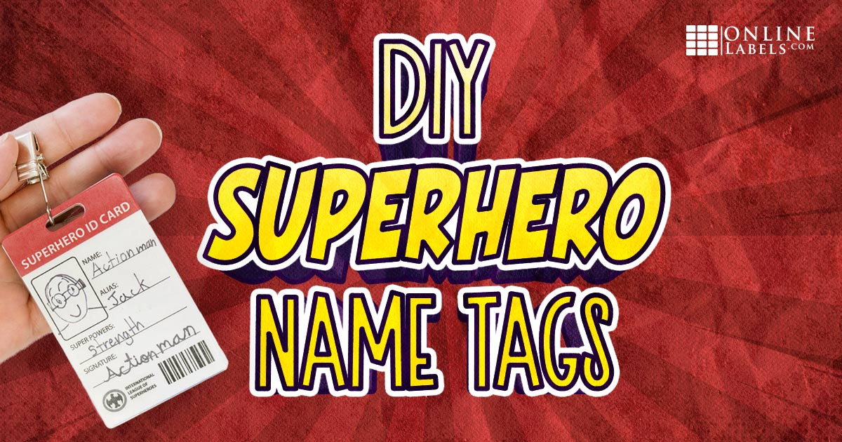 Fun summer craft for kids: create your own superhero ID card and be a superhero for the day