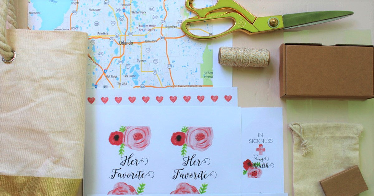 Everything you need to get started making your own DIY wedding welcome/hospitality bag for out-of-town guests