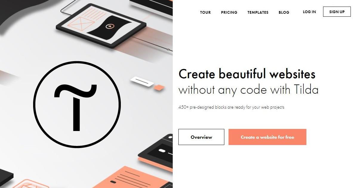 Tilda homepage