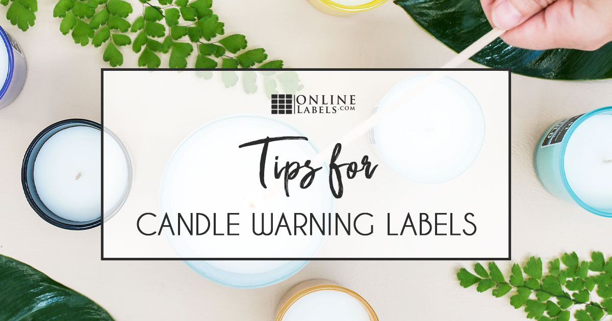 What to put on your candle warning labels