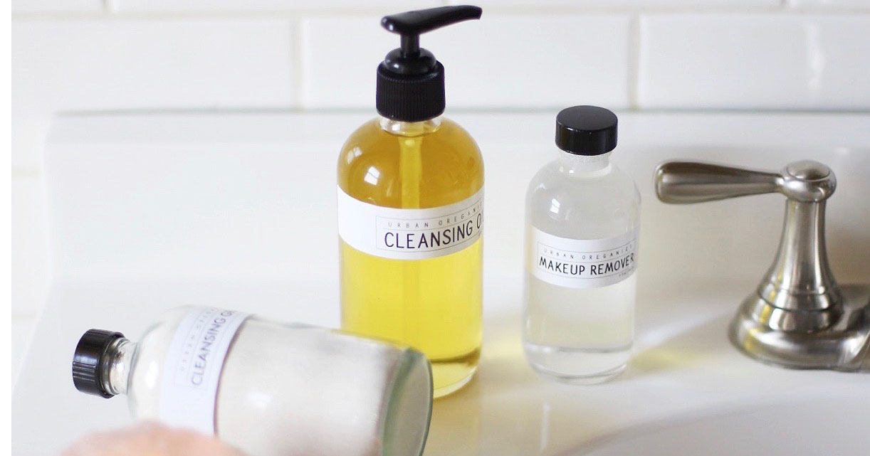 Product close-up: Urban Oreganics cleansing oil, makeup remover, cleansing grains