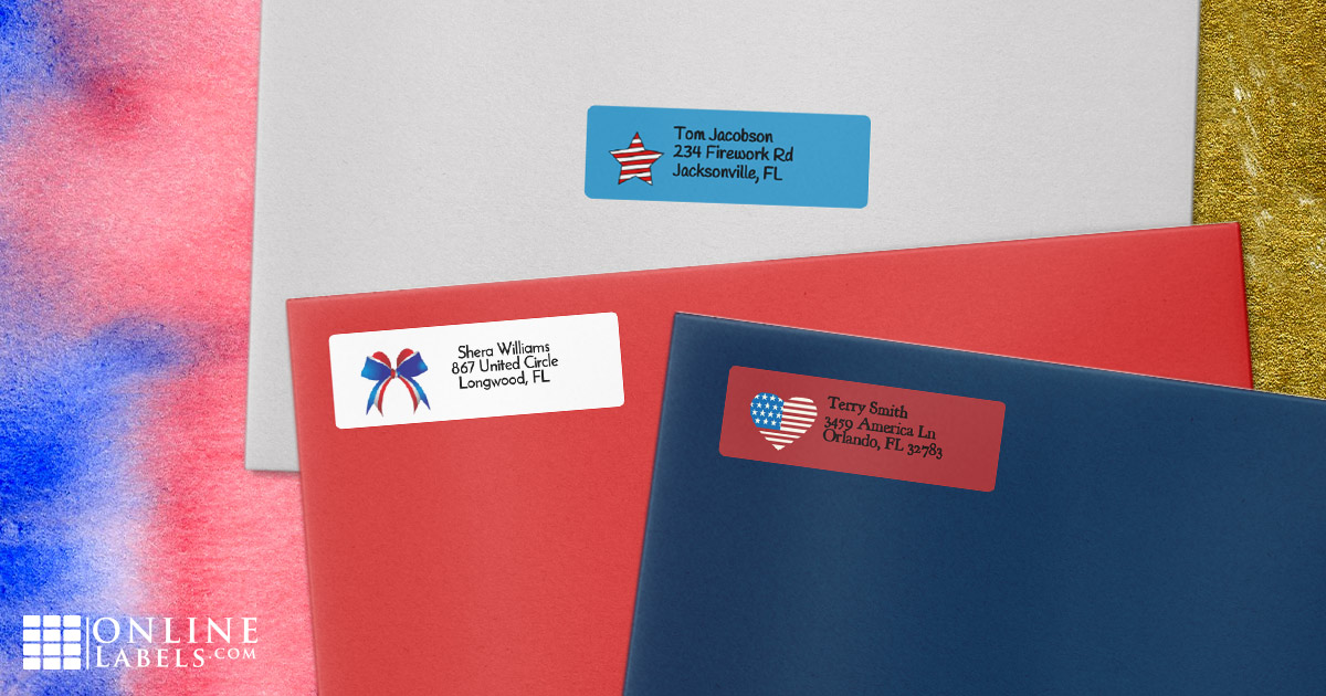 Celebrate America all year long with these red, white, and blue printable templates for addressing mail and packages