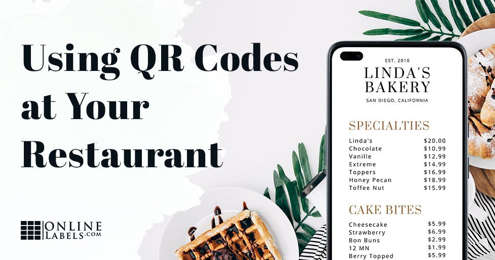 Add QR codes to your menu for easy access on mobile phones.