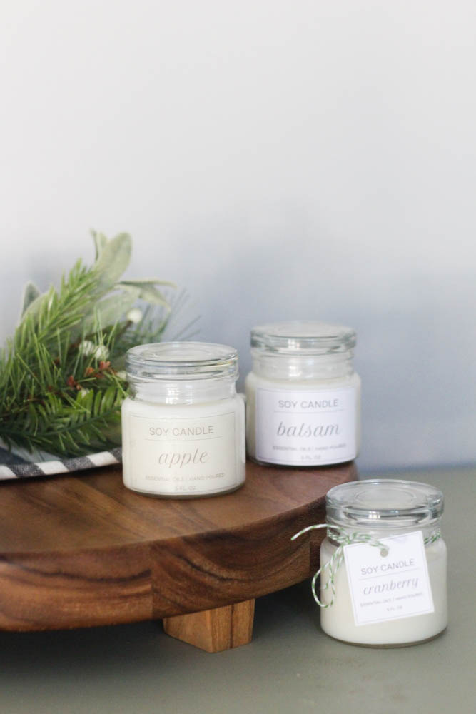 Ways to label candle jars for sale or gifting