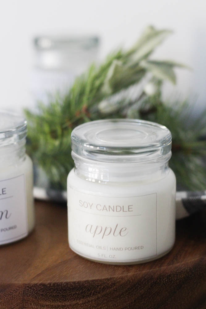 Clear candle label: labeling idea