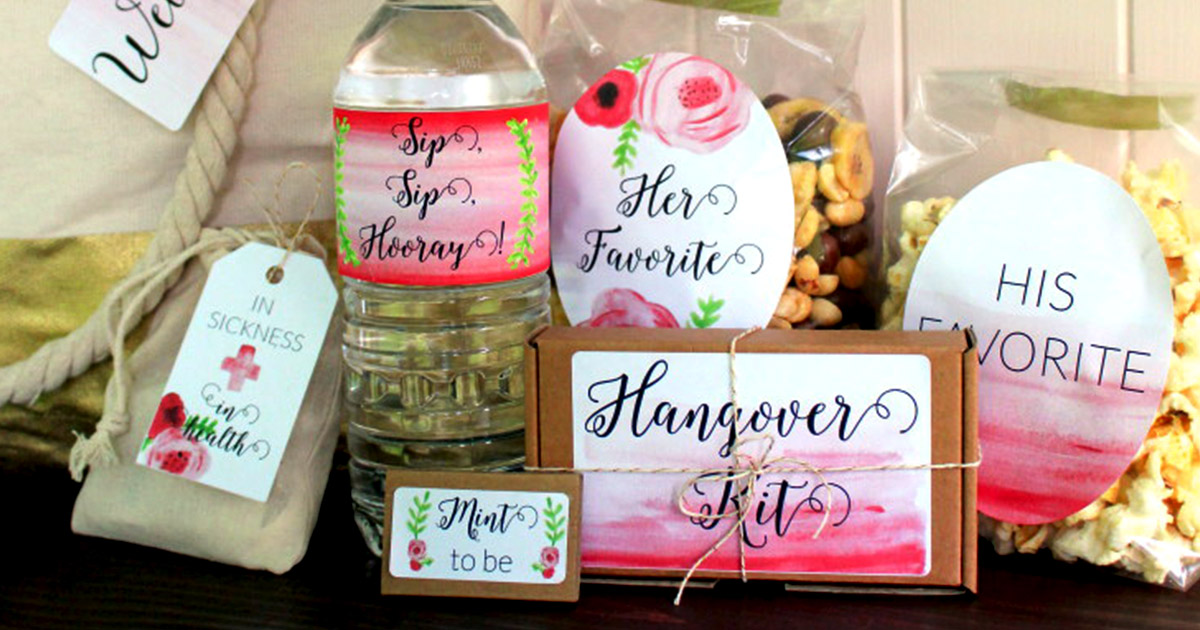 Tips on what to include in your wedding welcome bag