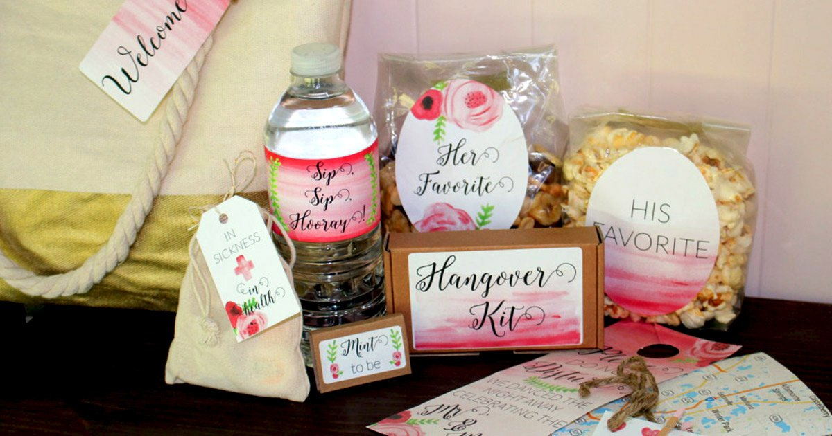 7 amazing DIY things you can make to include in your wedding welcome bag