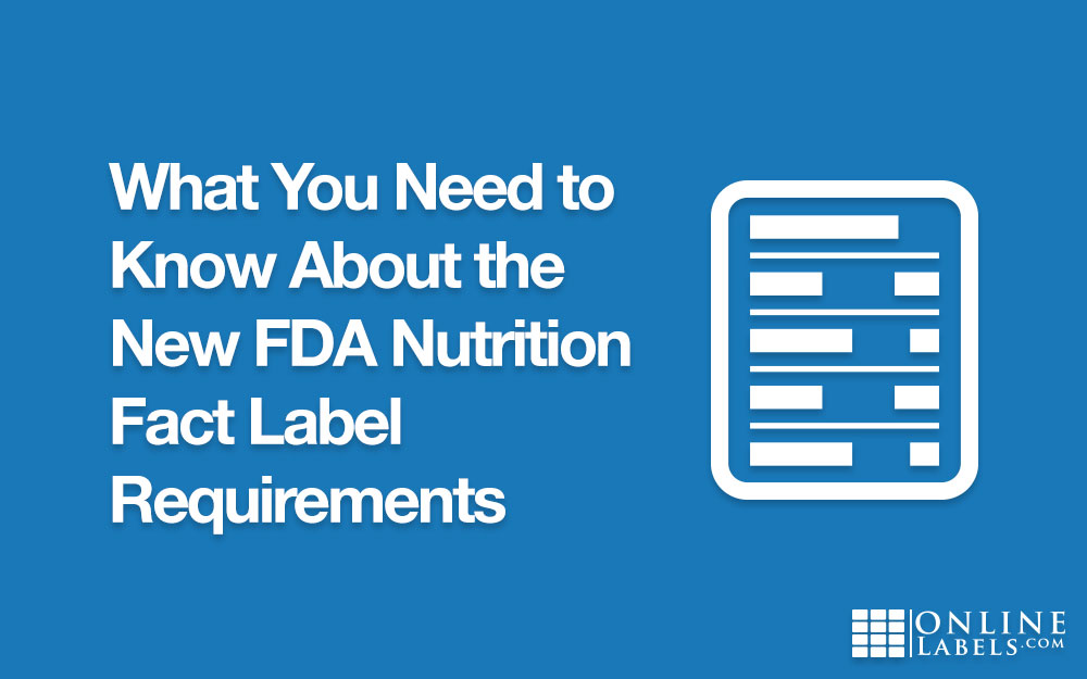 Learning the new nutrition label guidelines (FDA)
