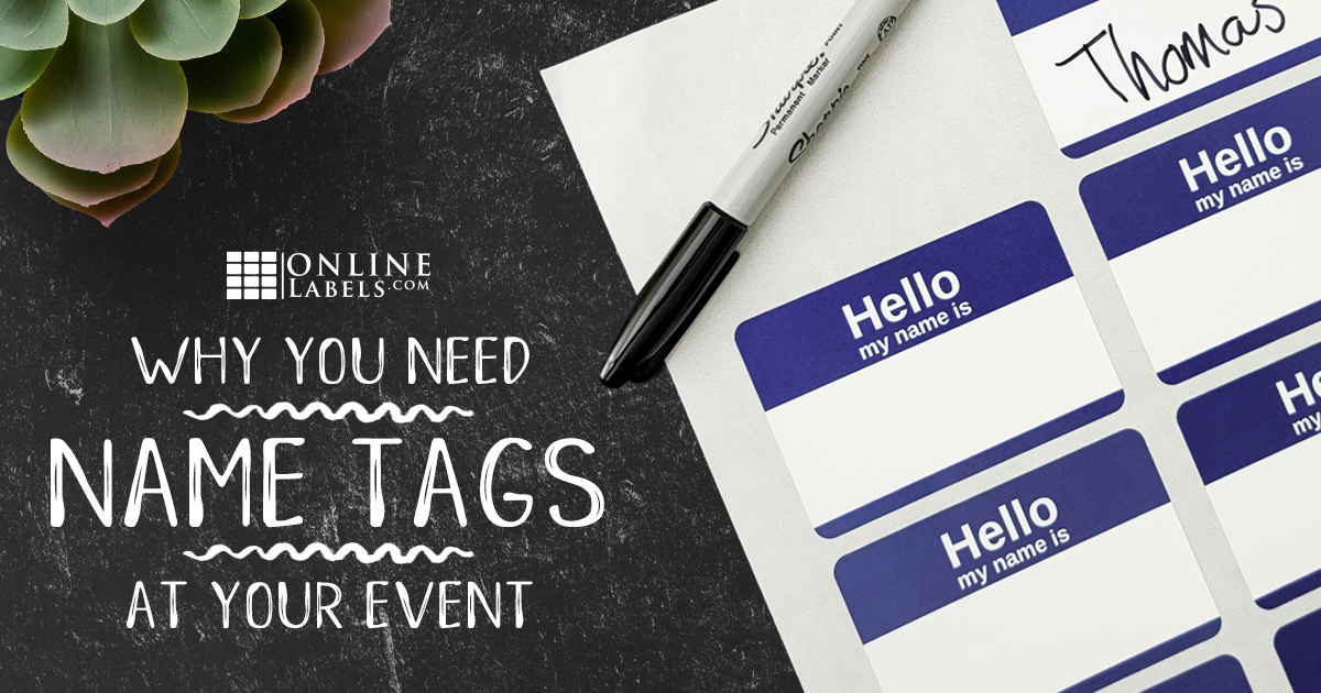 Why You Should Use Name Tag Stickers at Your Next Event