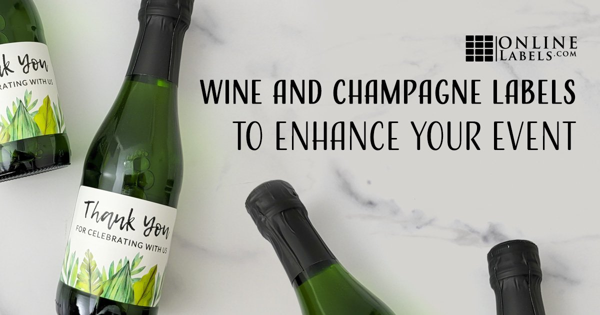 Wine and Mini Champagne Bottle Labels to Enhance Your Next Event