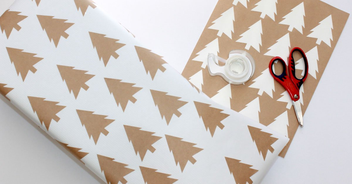 Create your own wrapping paper for Christmas gifting