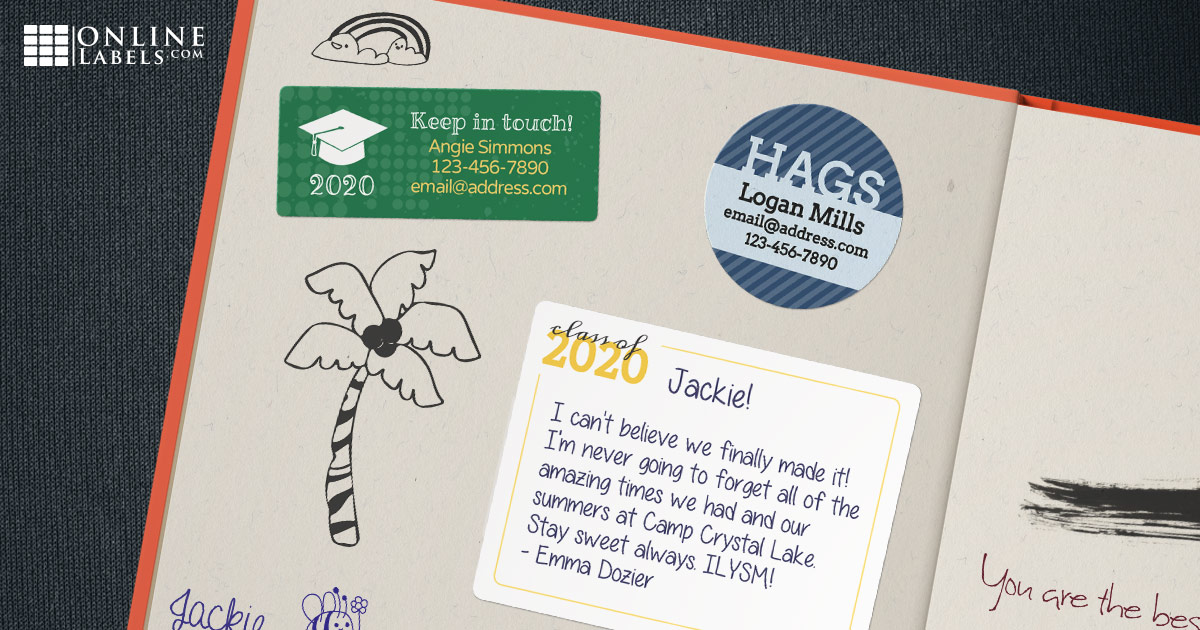 Sign school yearbooks virtually with these free signature/message sticker templates