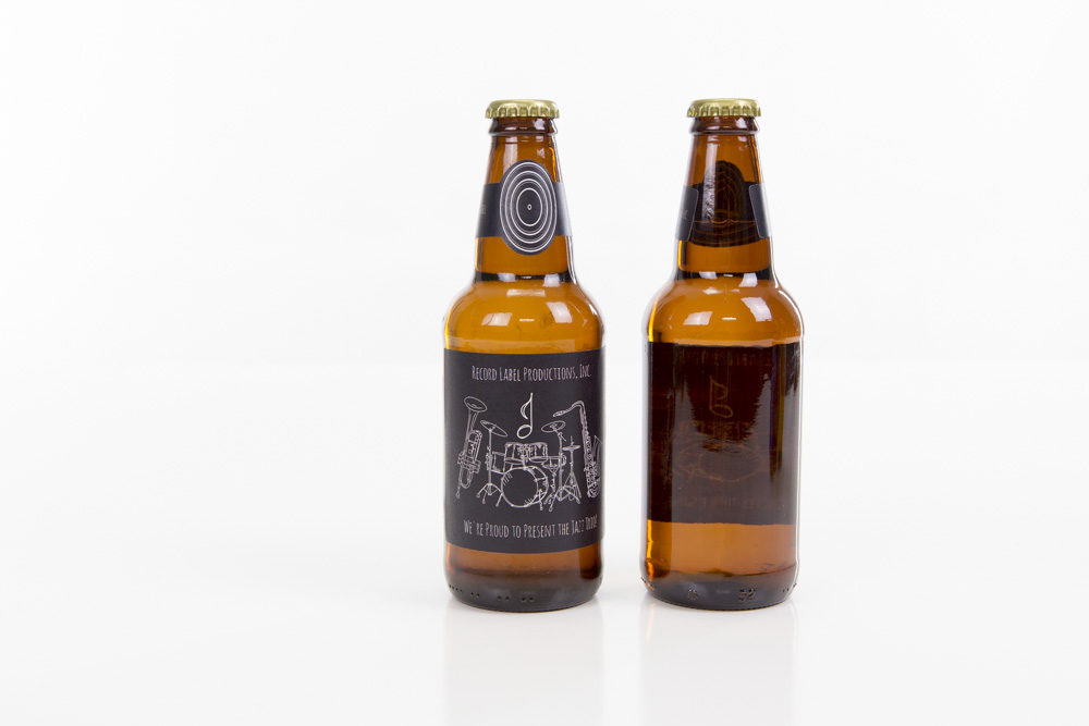 Beer Bottle Label with Neck