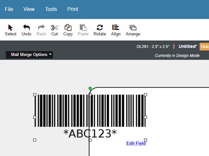 Maestro Label Designer Mail Merge Barcode Dialog