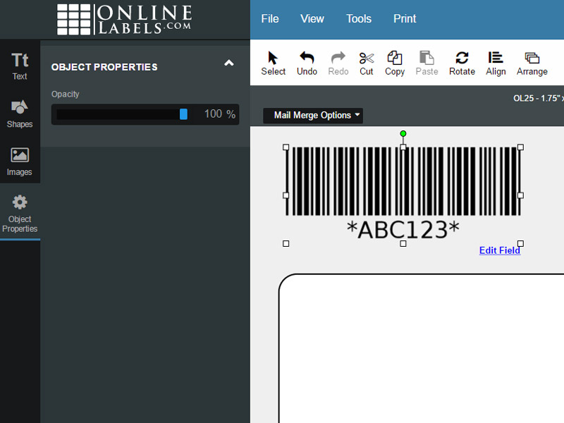 Sequential Barcode Generator