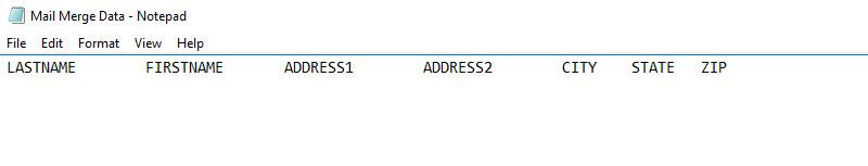 Establising columns in Notepad