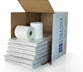 Box with sheet and roll label products