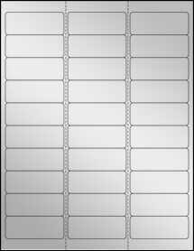2 625 x 1 address labels 30 per sheet 30 up labels silver