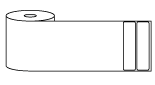 "Roll of 4"" x 1""  Thermal  labels"