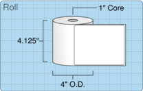 """Roll of 4"""" x 5""""  Thermal  labels"""