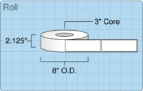 """Roll of 2"""" x 6""""  Thermal  labels"""